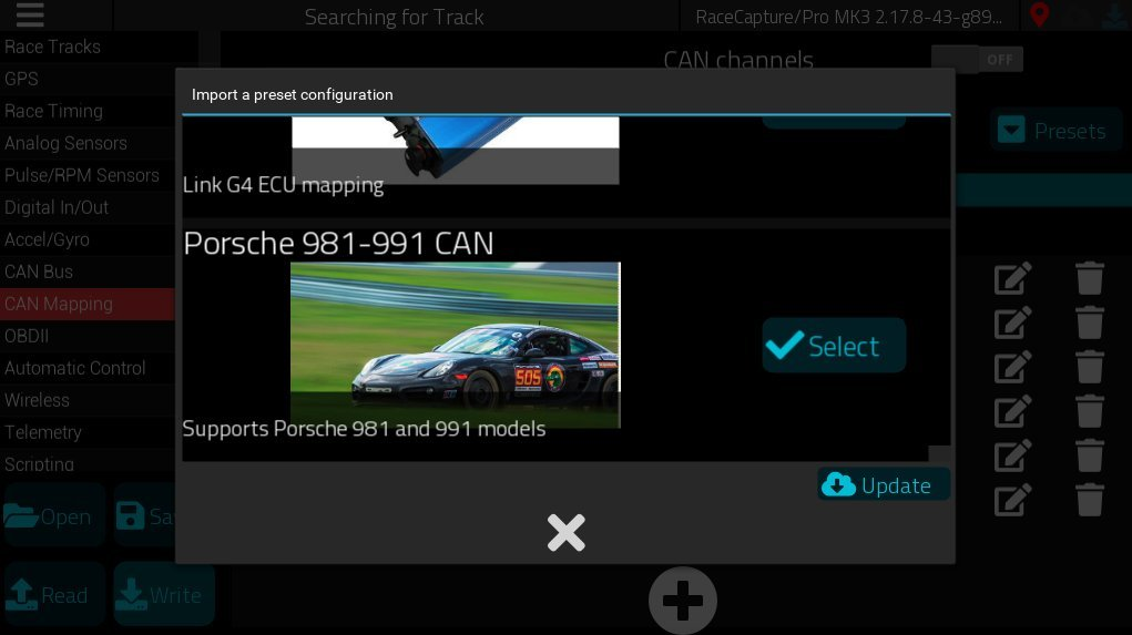 Porsche 981-991 direct CAN preset now available